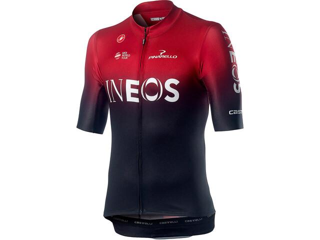 Castelli Team Ineos Squadra SS Jersey Herre dark red
